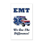 EMT We Are The Difference 35x21 Wall Decal