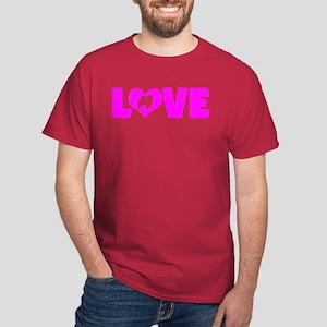 LOVE CHIHUAHUA (LONG COAT) Dark T-Shirt