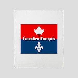 Canadien Francais Throw Blanket