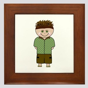 Gohana Hapa Boy Framed Tile