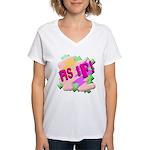 As if! Women's V-Neck T-Shirt