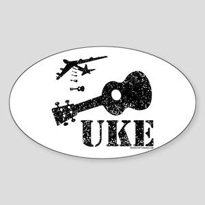 UKE Bomber Sticker (Oval)