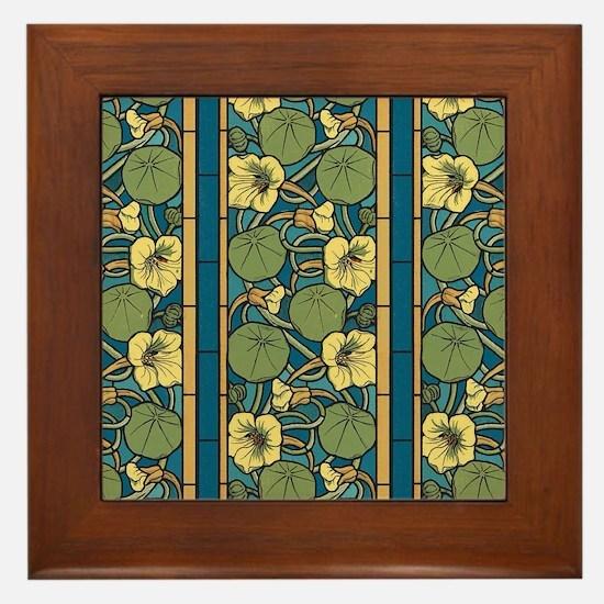 Cute Art nouveau Framed Tile