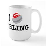 Canada curling Large Mugs (15 oz)