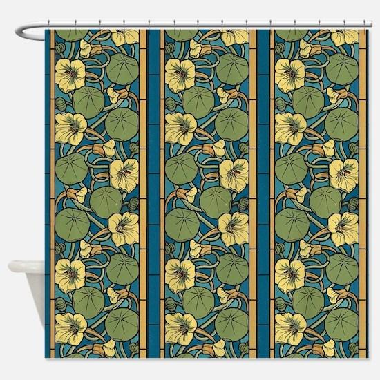 Cute Blue water lilies Shower Curtain
