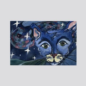 Cat 5 On a Starry Starry Night Rectangle Magnet