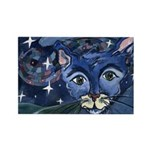 Cat 5 On a Starry Starry Night Rectangle Magnet (1