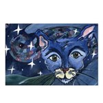 Cat 5 On a Starry Starry Night Postcards (Package