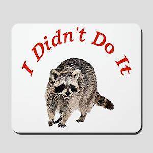 Raccoon Humorous Mousepad