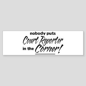 Court Reporter Nobody Corner Sticker (Bumper)