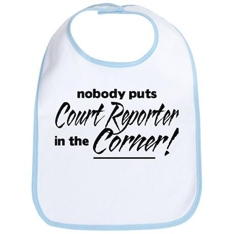 Court Reporter Nobody Corner Bib