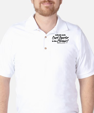 Court Reporter Nobody Corner Golf Shirt