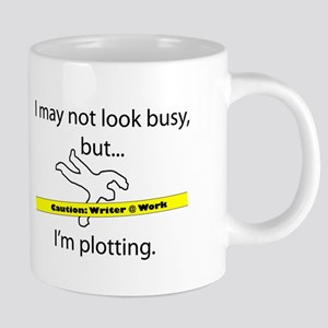 Beware: Plotting Writer 20 oz Ceramic Mega Mug