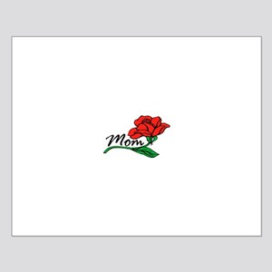 Red Rose for Mom Small Poster