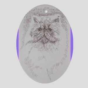 Persian Cat Ornament (Oval)