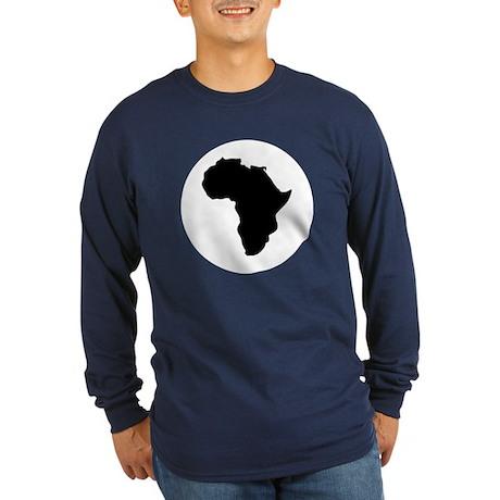 Africa Long Sleeve Dark T-Shirt