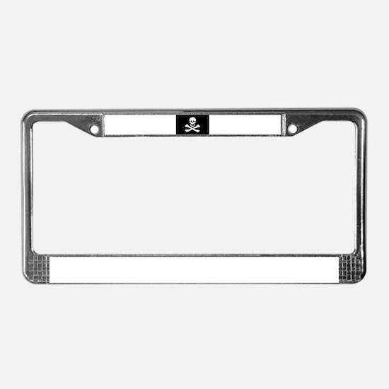 Jolly Roger License Plate Frame