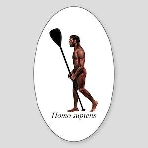 Homo supiens Sticker (Oval)
