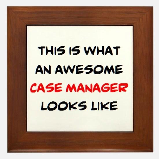 awesome case.manager Framed Tile