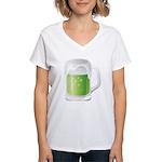 St Particks Day Beer Women's V-Neck T-Shirt
