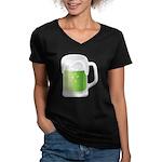 St Particks Day Beer Women's V-Neck Dark T-Shirt