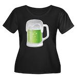 St Particks Day Beer Women's Plus Size Scoop Neck