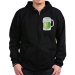 St Particks Day Beer Zip Hoodie (dark)
