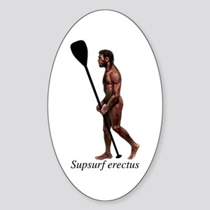 Supsurf erectus Sticker (Oval)