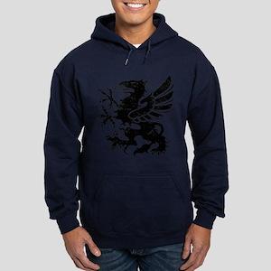 Black Gryphon Hoodie (dark)