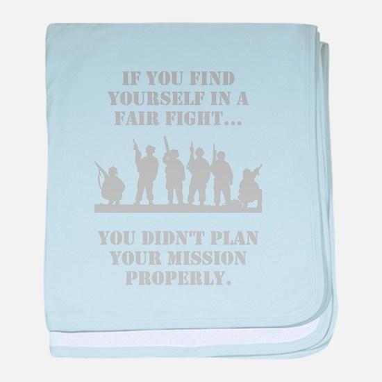 Military Fair baby blanket