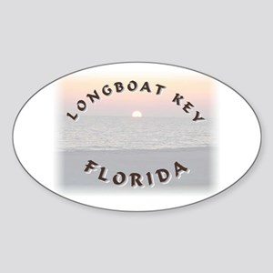 Longboat Key Oval Sticker