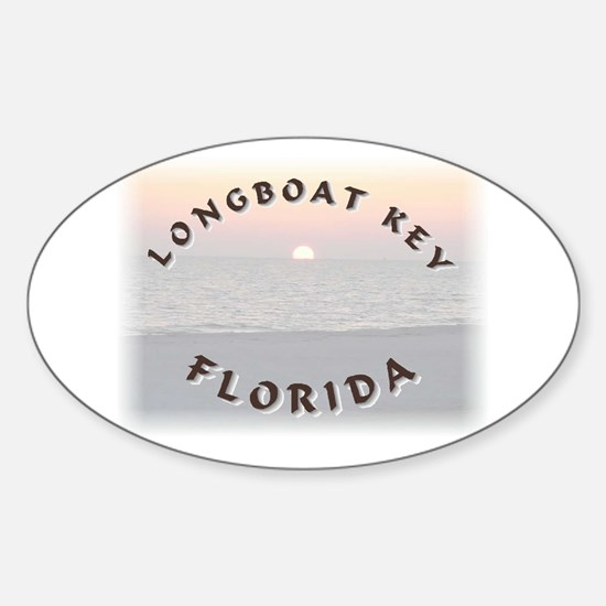 Longboat Key Oval Decal