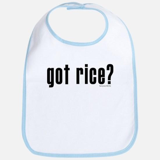 got rice? Bib