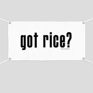 got rice? Banner