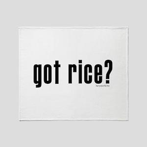 got rice? Throw Blanket