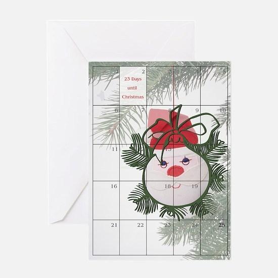 23 Days to Christmas Greeting Card