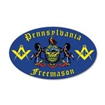Masonic Pennsylvania 20x12 Oval Wall Peel