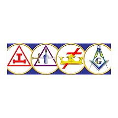 Masonic York Rite Circle 36x11 Wall Peel