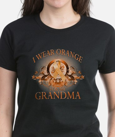 I Wear Orange for my Grandma (floral) Women's Dark