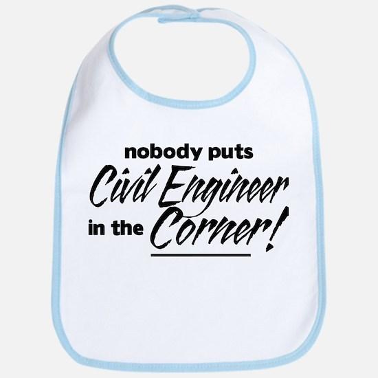 Civil Engineer Nobody Corner Bib