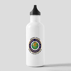FAA Certified Sport Pilot Stainless Water Bottle 1