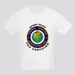 FAA Certified Sport Pilot Kids Light T-Shirt