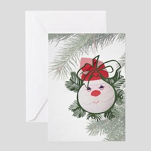 Santa Ornament Greeting Card