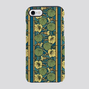 Blue and Yellow Floral Nouveau iPhone 7 Tough Case