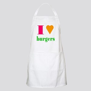 I Love Burgers BBQ Apron