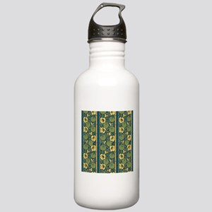 Blue and Yellow Floral Stainless Water Bottle 1.0L