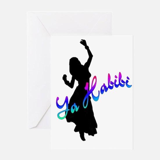 Ya Habibi white Greeting Card