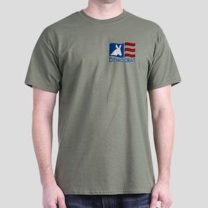 Democratic Flag Dark T-Shirt