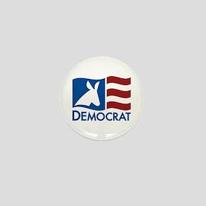 Democratic Flag Mini Button