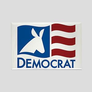 Democratic Flag Rectangle Magnet